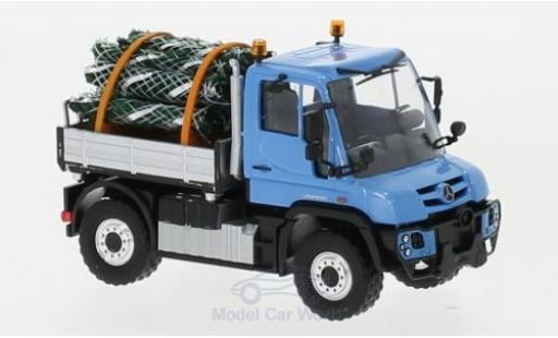 Mercedes Unimog 1/87 Busch U 430 blue mit Christbäumen diecast model cars
