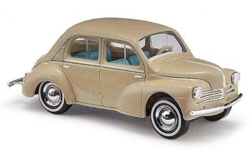 Renault 4CV 1/87 Busch beige 1958 avec Weißwandreifen miniature