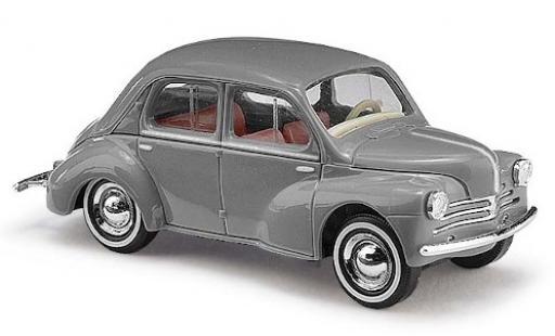 Renault 4CV 1/87 Busch grise 1958 avec Weißwandreifen miniature
