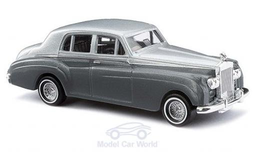 Rolls Royce Silver Cloud 1/87 Busch grise/metallise grise 1959 miniature