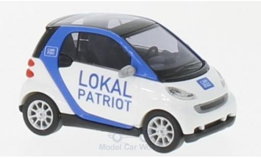 Smart ForTwo 1/87 Busch Fortwo Lokal Patriot 2007 Car2go miniature
