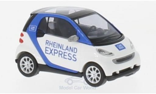 Smart ForTwo 1/87 Busch Fortwo Rheinland Express 2007 Car2go miniature