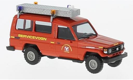 Toyota Land Cruiser 1/87 Busch HZJ 78 rouge Falck 1985 miniature