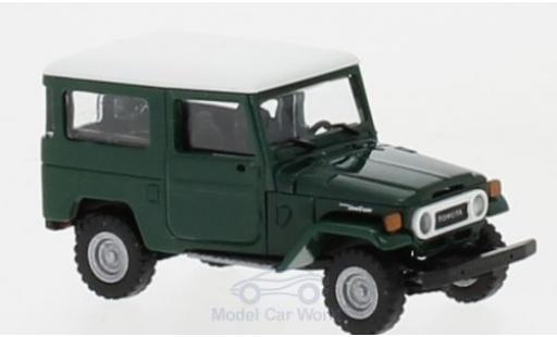 Toyota Land Cruiser 1/87 Busch J4 verte/blanche miniature