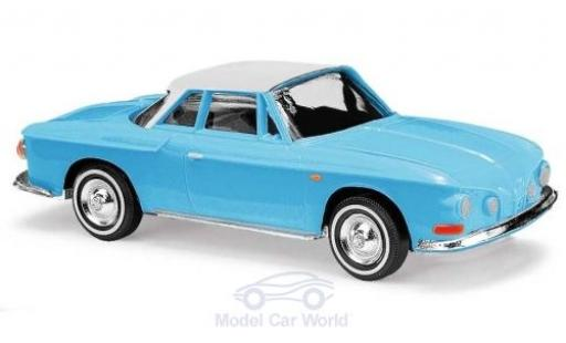 Volkswagen Karmann 1/87 Busch Ghia 1600 bleue/blanche 1961 miniature