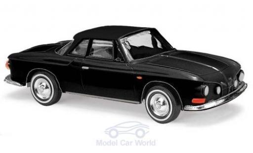 Volkswagen Karmann 1/87 Busch Ghia 1600 negro 1961 miniatura