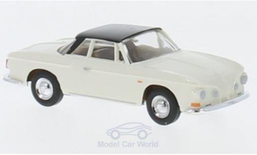 Volkswagen Karmann 1/87 Busch Ghia 1600 blanche/noire 1961 miniature