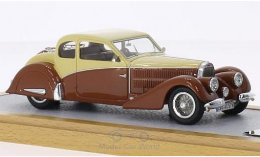 Bugatti 57 S 1/43 Chromes Type Coach Ventoux Gangloff Speciale Thill beige/marron RHD 1936 sn782 miniature
