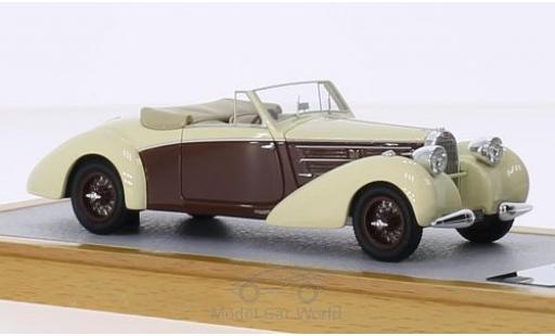Bugatti 57 S 1/43 Chromes Type C Aravis Letourner & Marchand beige/marron RHD 1939 sn732 Maurice Chevalier miniature