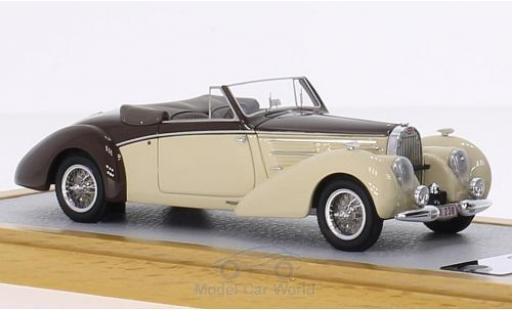 Bugatti 57 S 1/43 Chromes Type C Aravis Letourner & Marchand beige/marron RHD 1939 sn826 miniature