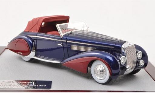 Delage D8-120 1/43 Chromes Cabriolet Grand Luxe Chapron metallise bleue/metallise rouge 1946 miniature