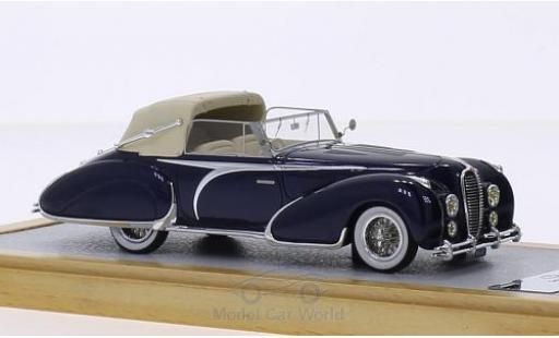 Delahaye 135 1/43 Chromes Cabriolet Figoni Falaschi bleue RHD 1948 El Glaoui sn800954 Verdeck halb geschlossen miniature