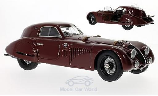 Alfa Romeo 8C 1/18 CMC 2900 B Speciale Touring Coupe dunkelrouge RHD 1938 miniature