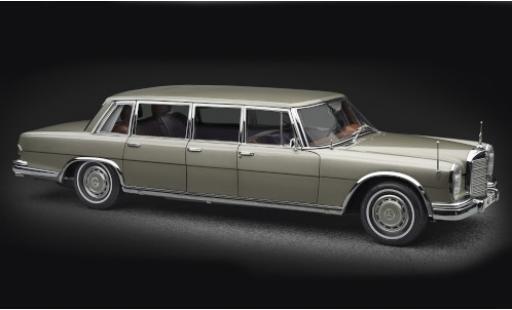 Mercedes 600 1/18 CMC Pullman (W100) gold avec toit ouvrant miniature