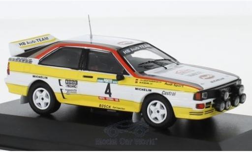 Audi Quattro 1/43 CMR quattro A2 No.4 HB Team HB Rallye WM Rallye Portugal 1984 mit Decals W.Röhrl/C.Geistdörfer miniature