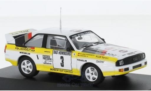 Audi Sport Quattro 1/43 CMR Sport quattro No.3 HB Team HB Rallye WM Rallye Monte Carlo 1985 mit Decals W.Röhrl/C.Geistdörfer miniature