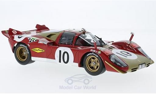 Ferrari 512 1/18 CMR S No.10 24h Le Mans 1970 H.Kelleners/G.Loos miniatura
