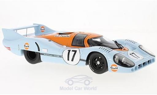 Porsche 917 1971 1/18 CMR LH No.17 Gulf 24h Le Mans J.Siffert/D.Bell diecast model cars