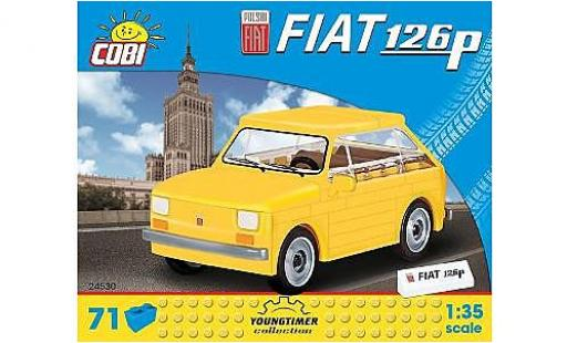 Fiat 126 1/35 Cobi P jaune Bausteine Anzahl le Blöcke: 71 miniature
