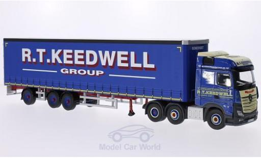 Mercedes Actros 1/50 Corgi MP4 RHD R.T. Keedwell Group Gardinenplanen-Sattelzug ohne Vitrine miniature