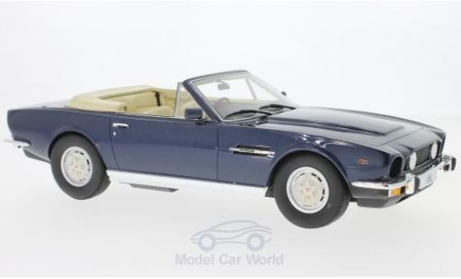 Aston Martin V8 1/18 Cult Scale Models Volante métallisé bleue RHD 1978 miniature