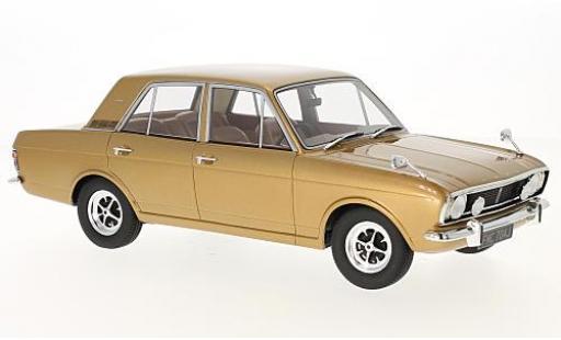 Ford Cortina 1/18 Cult Scale Models 1600E gold RHD 1970 sans Vitrine miniature