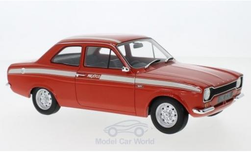 Ford Escort MKI 1/18 Cult Scale Models MKI Mexico rouge/blanche RHD 1973 miniature