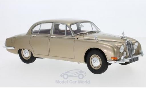 Jaguar S-Type 1/18 Cult Scale Models metallise beige RHD 1965 miniature