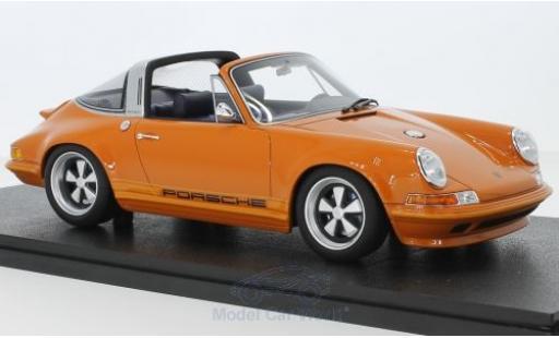 Porsche 911 1/18 Cult Scale Models Targa métallisé orange Singer miniature