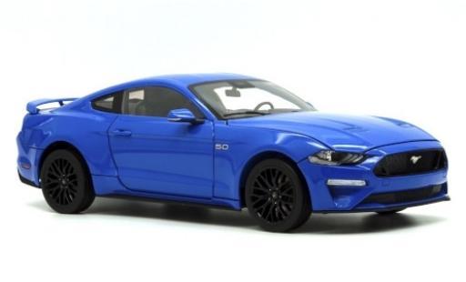 Ford Mustang 1/18 Diecast Masters GT 5.0 metallise bleue 2019