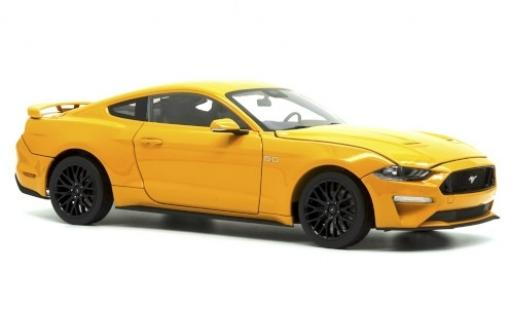 Ford Mustang 1/18 Diecast Masters GT 5.0 metallise orange 2019