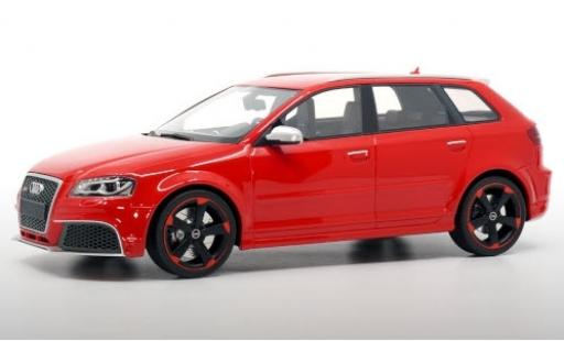 Audi RS3 1/18 DNA Collectibles Sportback (8P) red 2011 avec noire jantes diecast model cars
