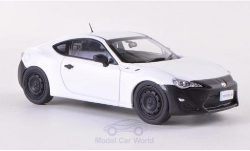 Toyota 86 1/43 Ebbro RC blanche/matt-noire RHD 2012 miniature