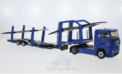 Mercedes Actros 1/43 Eligor 2 bleue GEFCO Partners Autotransporter miniature