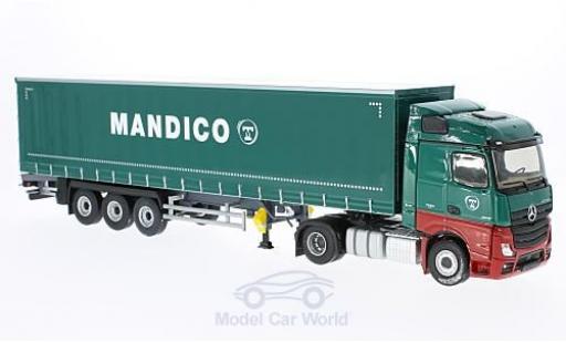 Mercedes Actros 1/43 Eligor 2 Tautliner green Transports Mandico ohne Vitrine diecast