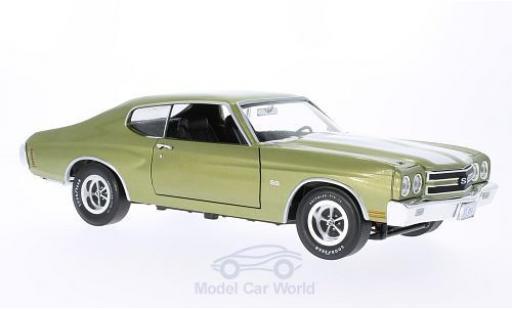 Chevrolet Chevelle 1970 1/18 Ertl SS 454 metallise verte/blanche miniature
