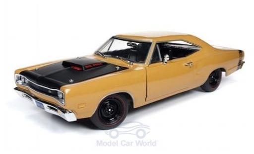 Dodge Coronet 1/18 ERTL American Muscle Super Bee beige/noire 1969 miniature