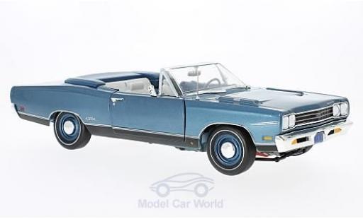Plymouth GTX 1/18 ERTL American Muscle Convertible métallisé bleue 50th Anniversary 1969 ohne Vitrine