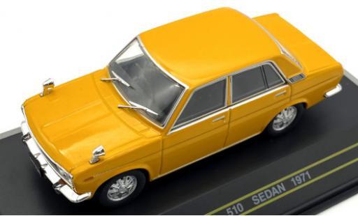 Datsun 510 1/43 First 43 Models Sedan yellow RHD 1971 diecast model cars