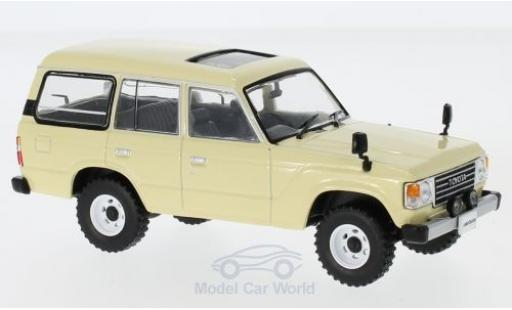 Toyota Land Cruiser 1/43 First 43 Models LC60 beige RHD 1982 miniature
