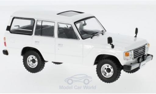 Toyota Land Cruiser 1/43 First 43 Models LC60 blanche RHD 1982 miniature