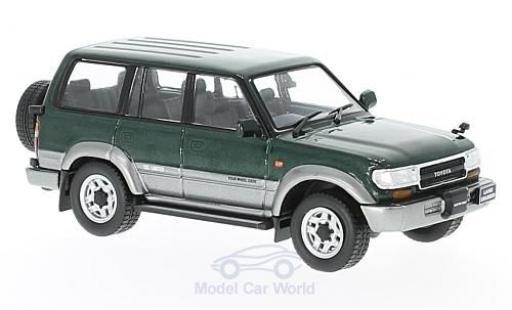 Toyota Land Cruiser 1/43 First 43 Models LC80 metallise verte/grise RHD 1992 miniature