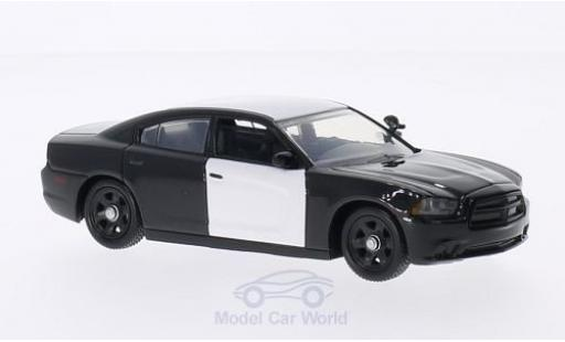 Dodge Charger 1/43 First Response undekoriertes Polizeifahrzeug schwarz/weiss 2012 mit Zubehör modellautos