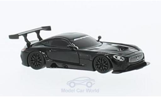Mercedes AMG GT 1/87 FrontiArt 3 black diecast model cars