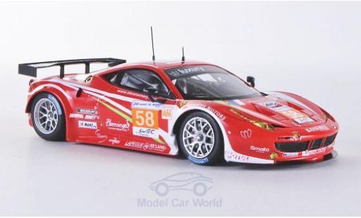 Ferrari 458 Italia GT2 1/43 Fujimi No.58 Luxury Racing 24h Le Mans 2012 miniature