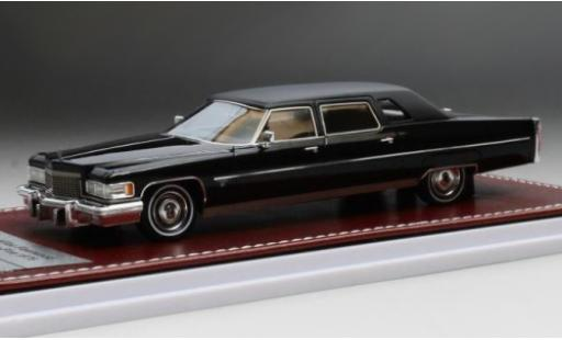 Cadillac Fleetwood 1/43 GIM   Great Iconic Models 75 black/matt-black 1976 diecast model cars