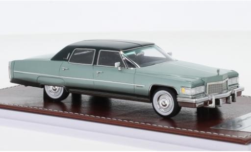 Cadillac Fleetwood 1/43 GIM   Great Iconic Models Brougham métallisé verte/matt-verte 1976 miniature