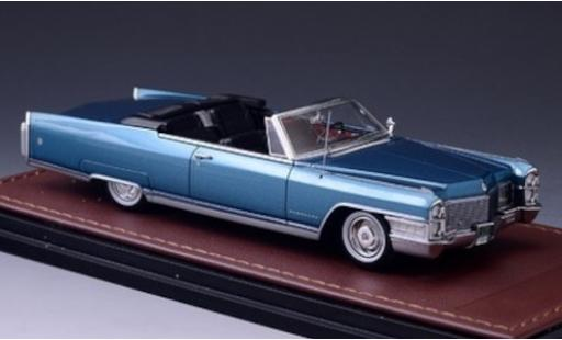 Cadillac Eldorado 1/43 GLM Convertible metallise blue 1965 diecast model cars