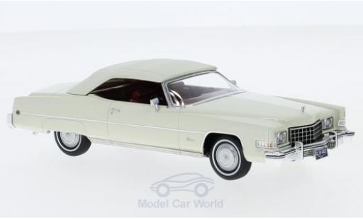 Cadillac Eldorado 1/43 GLM Convertible blanche 1973 miniature