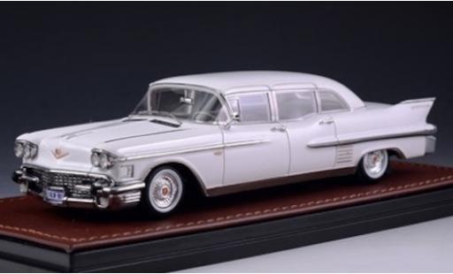 Cadillac Fleetwood 1/43 GLM 75 Sedan white 1958 diecast model cars